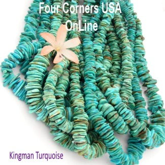Arizona Kingman Turquoise Beads Four Corners USA Native American Jewelry Making Beading Supplies
