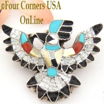 Inlay Brooch Pendant Jewelry Four Corners USA OnLine Native American Jewelry