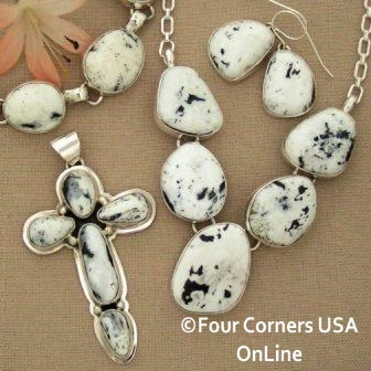 White Buffalo Turquoise Navajo Silver Jewelry Four Corners USA OnLine